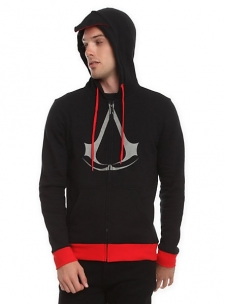 Go stealth in this black zip hoodie from; Assassin's Creed III; .; 60% cotton; 40% polyester; Wash cold; dry low; Imported; Listed in men's sizes