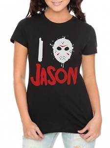 BUY TWO, GET ONE FREE; Show your love for Jason Voorhees with this fitted black tee from; Friday The 13th; .; 100% cotton; Wash warm; dry low; Imported; Listed in junior sizes; FINAL SALE. NO RETURNS OR EXCHANGES