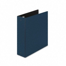 Economy round ring reference binders at an affordable price Suede finish general-use notebook resists fingerprints Interior storage pocket keeps loose materials handy Holds 8.5-inch x 11-inch sheets 3-inch capacity Available in blue color option