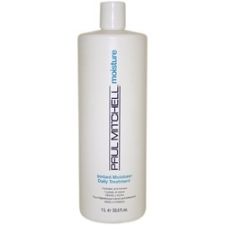 Paul Mitchell Instant Moisture Daily Treatment provides superior conditioning and repair for coarse dry hair. This conditioner effectively hydrates hair and protects the hair cuticle with volumizing Panthenol. Hydrates and detangles moisture-starved strands Makes hair shiny and manageable Strengthens the cuticle and improves elasticity Soy proteins, shea butter and Instant Moisture Complex team up to moisturize, strengthen and add elasticity Panthenol builds body and repairs damage from the inside out Size: 33.8 ounces Hair type: Damaged hair Due to the personal nature of this product we do not accept returns.