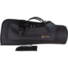 "A great value to answer the basic need of getting from gig to gig while offering a good fit for your trumpet. Our standard bag offers 15mm padding, rugged 600 Poly eterior, and a roomy eterior pocket. Non-abrasive nylon lining, rugged plastic hardware. Dimensions: 22.5"" x 9"" x 6"""