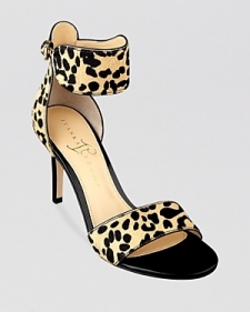 Ivanka Trump Open Toe Sandals - Gelana Leopard Print High Heel-Shoes