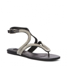 The kind of comfort and class you need in your life. Steven by Steve Madden thong ankle strap RESORTS sandal is crafted in leather-like material with beautiful stitching detail on her straps and sole. Multi upper Man-made sole Man-made lining Steven by Steve Madden