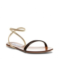 Get for beach season and poolside-lounging in this sleek SMARTEE flat. Ankle strap sandal features patent leather strap and open toe design. So fabulously on-trend! Man-made upper Man-made sole Man-made lining