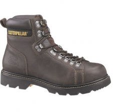"Alaska 6"" Flexible Work Boot Helps You Do Your Job in Style You won't have to worry about security with the CAT men's Alaska 6"" flexible work boot on your side-and on your feet-each day. Meet every challenge with confidence as you take on the toughest tasks of your day in this sturdy work boot. The rubber outsole is oil-resistant, providing added security for your footing. The dark-brown uppers are full-grain, tumbled leather, ensuring comfort and durability. You'll be sure of all-day comfort in the Alaska 6"" flexible work boot from Caterpillar, as well. A nylon mesh lining ensures breathability, and the removable footbed, made of polyurethane, supports your feet and reduces fatigue. Goodyear welt construction gives you the confidence that your boot will hold up to everything you throw at it."