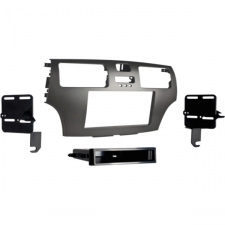 Manufacturer: Metra Electronics Manufacturer Part Number: 99-8158G Manufacturer Website Address: http://www. metraonline.com Brand Name: METRA Product Name: Single/Double DIN Dash Installation Kit Product Type: Vehicle Mount Product Information: Device Supported: Radio Physical Characteristics: Color: Gray Physical Characteristics: Material: ABS Plastic Compatibility: ISO Single/Double DIN Radio