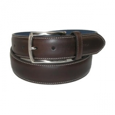 A great casual to dress belt that features classic feathered edges and detail side stitching. Nautica is stamped at the end of the belt, while a logo inlay is found near the buckle. A sharp brushed nickel buckle tops off this timeless belt with a modern touch.
