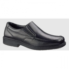Business sensibility blends with a subtle touch of sporting style in the Leverage slip-on from Hush Puppies. Inside is a removable and contoured EVA insole for catering to comfort. ZeroG polyurethane outsole is lightweight and flexible. Ultra smooth leather upper and side stretch goring give you easy on and off style for busy agendas. - ABS support shank- Airport friendly- Cushion instep- Gel heel cushion- Leather upper- Removable insole- Waterproof construction- Leather covered EVA insole- Leather quarter and tongue lining - New: In Original Box