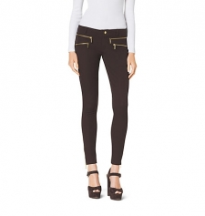 Sleek and glam our stretchcotton jeans are finished with graphic highshine zip pockets that add just the right amount of edge. With a midrise waist and superskinny legs this pair cuts the perfect coolgirl shape. Best of all they work with virtually everything in your spring wardrobe from textured knits to graphicprint tops. Size: 8. Color: Chocolate.