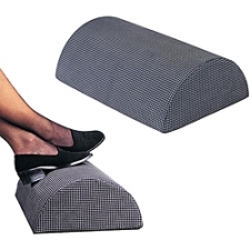 Foot cushion half-cylinder design allows a multitude of foot positions and distributes weight evenly Remedease cushion ensures total comfort in any seated position Foot cushion cover features a non-slip tread Hypo-allergenic, medical grade foam Case of five (5) Removable cover is machine washable 100-percent nylon cover Measures 18 inches long x 12 inches wide x 6 inches high