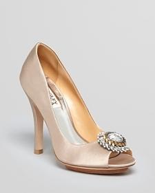 Badgley Mischka Peep Toe Pump - Beaming High Heel-Shoes