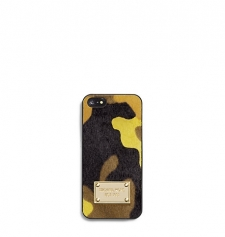 Talk is chic when it comes to our cool camoprint hair calf phone case. With durable lining and a luxe logo plaque this techcessory will keep your phone safe while exuding just the right amount of sophistication. On the go or at the office you can call upon this case for a standout statement. Size: ONE SIZE. Color: Acid Yellow.