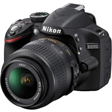 This Nikon camera includes over 24 megapixels of resolution and comes in a vibrant red exterior. The piece includes a NIKKOR zoom lens to capture incredible images. DX-Format CMOS sensor EXPEED III image processor 3-inch 921K-Dot LCD AF-S DX NIKKOR 18-55mm 3.5-5.6G VR lens 11-point autofocus HD 1080p video Live view Up to ISO 12800 Optional WU-1a wireless mobile adapter Screen size: 3 inches Display screen type: LCD Display resolution: 921000-pixel Effective camera resolution: 24.2-megapixel Total camera resolution: 24.7-megapixel Image sensor type: CMOS Aspect ratio: 3:2 Image formats: JPEG, RAW Maximum image resolution: 6016 x 4000 Video formats: MOV, MPEG-4 Maximum video resolution: 1920 x 1080 Maximum frame rate: 60 fps Optical zoom: 3.1x Focal length: 18 mm to 55 mm (Lens 1) Image stabilization: Optical Autofocus points: 11 Focus modes: Auto, manual Minimum focus distance: 11.02 inches Flash modes: Auto flash, flash OFF, flash ON, red-eye reduction, slow sync, X-sync, flash exposure compensation, front curtain sync, rear curtain sync Viewfinder type: SLR Memory card supported: Secure Digital (SD) Card, Secure Digital Extended Capacity (SDXC), Secure Digital Extended Capacity (SDXC UHS-I), Secure Digital High Capacity (SDHC) Card, Eye-Fi Card USB/ HDMI: Yes PictBridge: Yes Battery model supported: EN-EL14 Battery rechargeable: Yes Battery life: 540 shot Color: Red Camera assembly: Body with lens kit Dimensions: 3.8 inches high x 5 inches wide x 3.1 inches deep External flash shoe Live view Orientation sensor Continuous shooting mode Self-timer Green Compliance Certificate/Authority: RoHS, WEEE