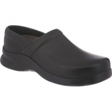 """Enjoy long-lasting comfort with the lightweight, 100% animal-free Klogs Boca closed-back clog. The polyurethane upper wipes clean with soap and water. Perfect for days when you're on your feet for extended periods of time. The polyurethane sole is slip-resistant, non-marking, and shock absorbent. The removable Klogs Komfort footbed provides soft cushioning and excellent arch support that's latex-free, antimicrobial, odor-resistant, and lightweight. Fit tip: This shoe runs a size large. We recommend that you order a whole size down from your normal size (if you normally wear a 9.0, order an 8.0). - Polyurethane upper- Slip-lasted construction- Washable- Maxum Polyurethane Sole- Klogs Komfort Footbed- ASTM-Rated Slip Resistance- 100% animal-free- Approx. 2""""' heel height- New: In Original Box"""