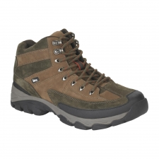 Hit the Trails with Shoes You Can Count On-The Summit Men's Hiking Boot Get ready for the outdoors in these handsome, comfortable Elk Woods men's hiking boots. Featuring a combination of solid construction, and a grip you can depend on, these hikers are built for hitting the off beaten path. With a round reinforced toe and the sturdy support of a torsion plate, these boots are ready when you need to get a grip to climb upward, even on loose ground. The EVA midsoles are lightweight and sturdy enough to keep you reaching your summit. A men's hiking boot you can trust, the Elk Woods hiker keeps you on a firm footing with its grippy rubber outsoles and your feet will be safe from microbes with the sock liners. Wet weather? No problem, these boots are waterproof and able to grip even when things get slippery and slushy. Tough and trustworthy, these shoes are built to keep up with your indomitable spirit.
