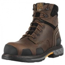 Take on your tough jobs in total comfort and protection with the OverDrive 6 Composite Toe from Ariat. Leather upper with superior construction that provides long-lasting durability and protection. Cushioned suede collar for added comfort. Mesh lining for excellent breathability. Molded TPU wear guards on the toe, heel and side provides great protection.90° heel includes reflective piping for increased visibility. EVA midsole for superior shock absorption. ATS Max platform provides maximum torsional stability for reduction of foot fatigue and proper body alignment. Duratread outsole provides excellent traction and is oil and slip resistant. Composite toe is F2413-05 and F2413-11 M/I/75 C/75 rated for safety. Non-metallic for electronic security working conditions. Imported. Measurements: Heel Height: 1 3 4 inWeight: 2 lbs 11 ozCircumference: 14 inShaft: 7 inPlatform Height: 1 inProduct measurements were taken using size 11, width D - Medium. Please note that measurements may vary by size.