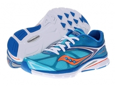 With a ride smoother than whipped butter, get ready to fall in love head over toes with the most recent edition to the Saucony Kinvara family!A minimalist running shoe built on a neutral last. Breathable open mesh upper. Flex Film is a thin, flexible and supportive film that is welded onto the upper to help reduce the number of layers. HydraMAX Lining is a fine fabric with superior moisture-managing properties, as well as great step-in comfort. Contoured foam sockliner offers lightweight underfoot cushioning. High-Abrasion EVA (EVA+) is an ultralightweight grade of EVA that provides durable cushioning. PowerGrid heel insert features GRID technology to help center the foot, absorb impacting shock and help distribute pressure for a smoother, more responsive ride. Memory foam heel pods are strategically placed to promote a snug fit. Midsole Differential: 4mm (heel-to-toe height differential, excluding strobe board and sockliner) .XT-900 carbon rubber outsole material delivers exceptional traction and long-lasting wear. Triangular lug design supplies cushioning and reliable traction over varied terrain. Imported.
