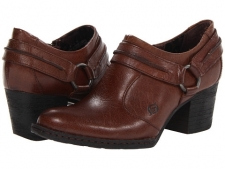 Add some rustic charm that's right on trend to your wardrobe with the chic vibe of these Born® shoes. Full grain leather or suede upper with harness strap decor for much added visual appeal. Slip-on design for quick and easy on and off. Soft leather lining ensures an abrasion-free environment for all-day wear. Generously cushioned footbed massages the foot with each and every step. Tucker board with steel shank provides increased midfoot support and lateral stability. Rubber outsole delivers long-lasting durability on a variety of surfaces. Opanka hand-sewn construction creates a long-lasting and flexible bond. Imported. Measurements: Heel Height: 2 1 4 inWeight: 13 ozPlatform Height: 1 2 inProduct measurements were taken using size 7.5, width M (B). Please note that measurements may vary by size.