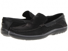 Enjoy your day off in these sporty loafers from SKECHERS. Suede leather upper with synthetic mesh panels. Slip-on style with pull tab at heel. Contrast moc stitching. Double-sided goring. Stitched detailing. Fabric lining. Cushioned memory foam footbed. Shock-absorbing midsole. Rubber sole. Imported. Measurements: Heel Height: 1 inWeight: 9 ozProduct measurements were taken using size 11.5, width D - Medium. Please note that measurements may vary by size.