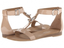 Dedicate the day to these Franco Sarto sandals! Man-made upper.T-strap construction features a decorative toggle design. Adjustable ankle strap with a buckle closure. Man-made lining. Lightly padded insole. Man-made outsole. Imported. Measurements: Heel Height: 1 2 inWeight: 7 ozProduct measurements were taken using size 9, width M. Please note that measurements may vary by size.