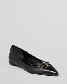 Delman Pointed Toe Flats - Slim-Shoes