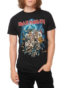 Black Iron Maiden T-shirt with cover art design from; Best of the Beast; .; 100% cotton; Wash cold; dry low; Imported; Listed in men's sizes