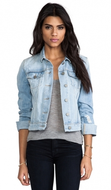 Born and raised in Los Angeles, Paige combines Southern California casual with pure sophistication. As a top fit model for denims heavy hitters Paige acquired cunning knowledge of fashion and an acute attention to detail. Paige launched her name-sake line to offer cutting edge design and trend setting styles. 99% cotton 1% elastane. Button front closure. Front flap pockets with button closure. Button cuffed sleeves. Adjustable button tabs at sides. Distressed areas throughout.