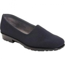 """Take the road less traveled. And you can because this amazingly comfortable slip-on loafer has casual chic down pat, plus Stitch 'N Turn technology to keep you feeling great. The upper is soft, versatile and goes with everything. A flexible diamond patterned sole and 1"""" heel claim your comfort even more. Heel Height: 1"""" Fit: True to Size Upper: Fabric Special Features: Stitch N Turn"""