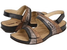 A beautifully designed sandal that pairs perfectly with the season's fashions. Multi-tone leather uppers flow harmoniously with the wrapped platform. All three straps feature hook-and-loop closures for total fit enhancement. Straps are leather lined and the contoured footbed is leather covered to naturally wick away moisture. Durable synthetic outsole with a tread design echoing the footbed pattern. Imported. Measurements: Heel Height: 1 1 2 inWeight: 9 ozProduct measurements were taken using size 38 (US Women's 7-7.5), width B - Medium. Please note that measurements may vary by size.
