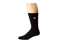 When you need a little reminder to relax and remember life outside of your cubicle these Island Hopper Crew Socks do the trick! Athletic crew cut socks. Signature brand patch on top. Ribbed cuff extends from ankle to mid-calf. Signature brand logo on arch.Y-heel pocket helps keep sock in place.92% cotton, 7% polyester, 1% spandex. Machine wash cold, tumble dry low. Imported.
