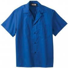 Poplin camp shirts offer vibrant solid colors in a traditional camp shirt. Perfect for resorts, landscaping, or casual restaurants. The soft ring spun poplin fabric offers all day comfort. Embroiders well.