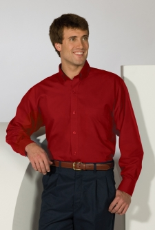 Poplin long sleeve shirt has the ideal mix of softness and strength. A performance poplin that stands up to demanding wear and is offered in a plethora of colors. Perfect for restaurants, delivery services or any image apparel where perfomance counts. Embroiders well.