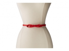 Flaunt your feminine style with this ladylike Lodis belt. Designed to be worn higher on the waist. Made of smooth-grain leather. Adjustable closure with decorative bow. Imported. Measurements: Width: 1 2 inFirst Hole Length: 34 inLast Hole Length: 38 inWeight: 1.5 ozProduct measurements were taken using size LG. Please note that measurements may vary by size.