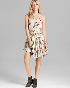 Free People Slip Dress - Circles of Flowers-Contemporary