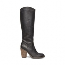 A classic boot silhouette with the season's must-have chunky, stacked heel. Bonus feature? Supple, luxurious genuine leather material with easy access side zip closure. We recommend pairing RAYGUN with dark jeans and a graphic sweater. Punch up your look with an eye-popping scarf. 3.5 inch heel 14 inch shaft height 15 inch circumference Leather upper Man-made sole Man-made lining