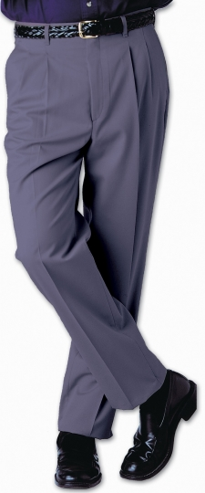 """Business casual pleated chino pant is a blended twill with a soft hand. Perfect for cruise ships, theme parks or the office. Performance features including soil release and moisture wicking. Indicate your inseam and the pant will be hemmed """"free"""" prior to shipping."""