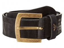 Finish off your look wearing this stunning Armani Jeans belt. Leather belt with embossed brand logo details. Metallic single prong buckle. Imported. Measurements: Width: 1 1 2 inFirst Hole Length: 39 inLast Hole Length: 43 inWeight: 8 ozProduct measurements were taken using size 32. Please note that measurements may vary by size.