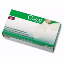 Curad latex exam gloves offer excellent barrier properties combined with great fit and feel. The textured, powder-free surface ensures a secure grip while the superior elasticity provides exceptional comfort and strength. Powder-free, textured Intended use: Hand protection Brand: Curad Materials: Latex Quantity: 100 units per box
