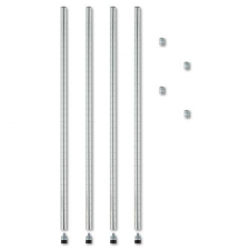 Add-on poles allows you to easily add on shelves or create custom sized units (combined with extra shelves and shelf connecting hooks). Includes levelers for uneven floors and four 36-inch posts, combine two posts for 72-inch shelving. Color: Silver Materials: Wire Finish: N/A Dimensions: 1.77 inches high x 5.31 inches wide x 42.13 inches long Number of shelves: N/A Number of drawers/compartments: N/A Model: ALESW59PO36SR