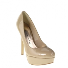 """Join In this pump with any outfit in your closet! This patent pump will take you from day to night with its 4 7/8"""" heel and 1"""" platform. Wear them to the office with a pencil skirt and bright blouse or pair with your favorite denim for a more casual look. By Chinese Laundry. Manmade patent 4 7/8"""" heel 1"""" platform"""