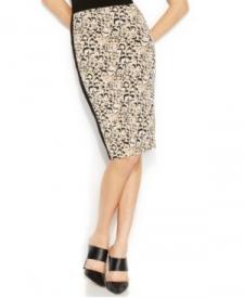 Vince Camuto Leopard-Print Pencil Skirt Women Women's Clothing - Skirts