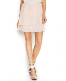 Vince Camuto Pleated Faux-Wrap Skirt Women Women's Clothing - Skirts