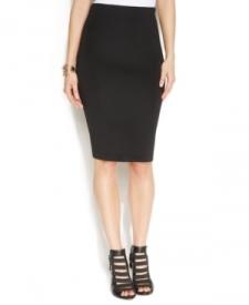 Vince Camuto Zip-Back Scuba Pencil Skirt Women Women's Clothing - Skirts