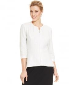 Alex Evenings Three-Quarter-Sleeve Sequin Lace Jacket & Top Women Women's Clothing - Jackets & Blazers