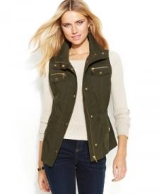 INC International Concepts Zip-Front Anorak Vest Women Women's Clothing - Coats