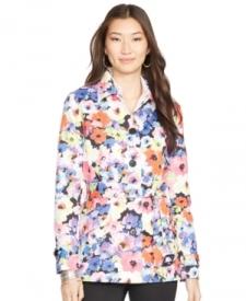 Lauren Ralph Lauren Floral-Print Belted Trench Coat Women Women's Clothing - Coats