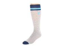 Pair those throwback sneaks with the classic style of these Nike socks. Colorful color blocking. Strategically cushioned for exceptional comfort. Nike logo at calf.87% cotton, 12% nylon, 1% Spandex. Machine wash warm, tumble dry low. Imported.