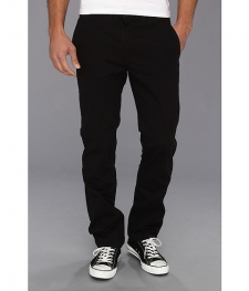 Yo, those other chinos are pretty good, and I'ma let you wear 'em. But these RVCA chinos are the best pants of all time. ALL TIME. Stretch cotton blend provides for the comfort you need. Slim, straight-leg design. Belt loop waist. Buttoned front closure with zip fly. Side hand pockets. Buttoned back welt pockets.99% cotton, 1% spandex. Machine wash cold, tumble dry low. Imported. Measurements: Waist Measurement: 32 inOutseam: 41 inInseam: 32 inFront Rise: 10 inBack Rise: 15 inLeg Opening: 16 inProduct measurements were taken using size 32, inseam 32. Please note that measurements may vary by size.