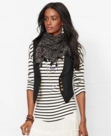 Denim & Supply Ralph Lauren Shawl-Collar Vest Women Women's Clothing - Jackets & Blazers