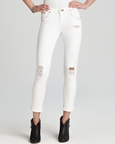 rag & bone/Jean Jeans - The Dash in Tattered White-Contemporary
